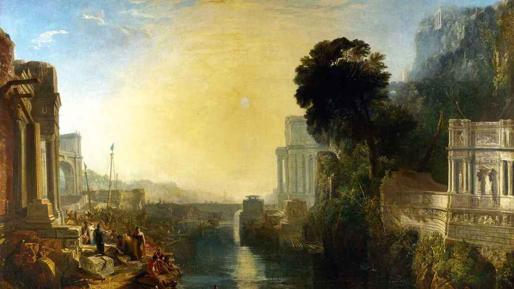 La construcción de Cartago en tiempos de la reina Dido.