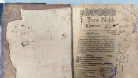 El ejemplar de Shakespeare hallado.
