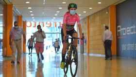 Annemiek Van Vleuten al inicio de la etapa del Giro Rosa