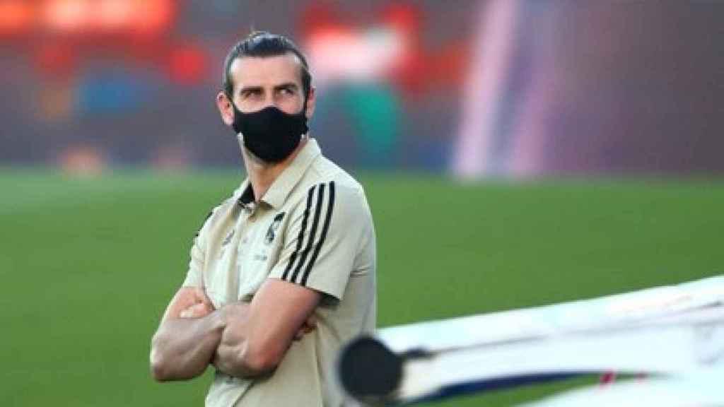 Gareth Bale, con mascarilla