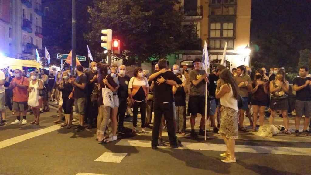 Llegada del ex jefe militar de ETA A Bilbao, esta misma semana.