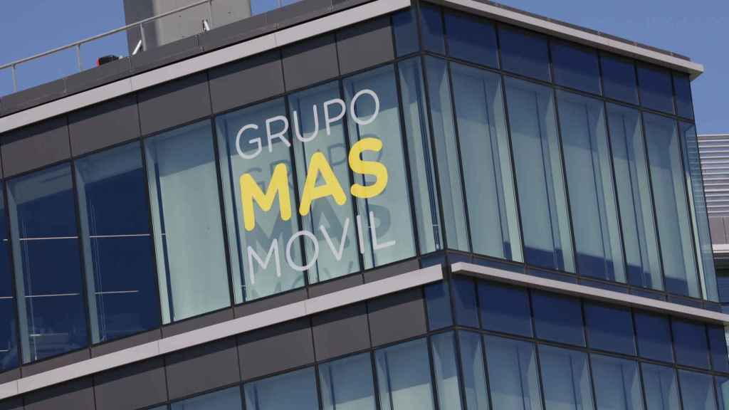 Fachada de la sede de MásMovil en Madrid.