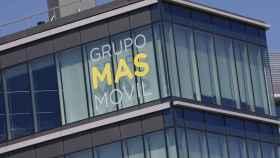 Fachada de la sede de Grupo MásMovil en Madrid.
