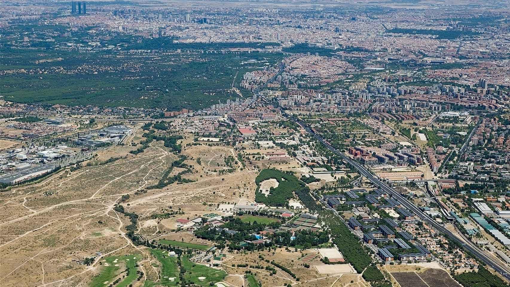 Imagen aérea de los terrenos que forman parte de la Operación Campamento.