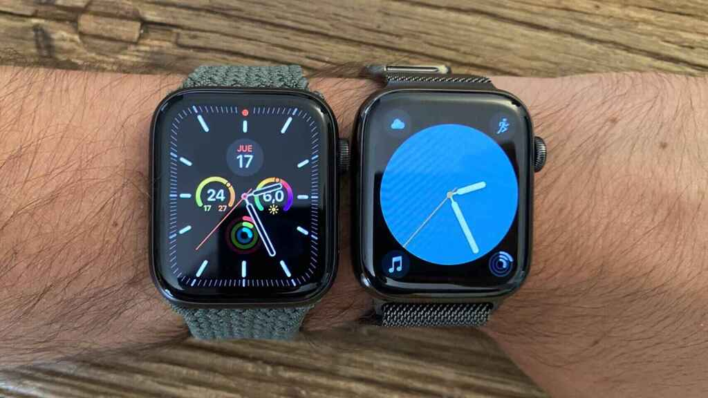 Apple Watch SE (izq.) y Watch Series 6 (der.)