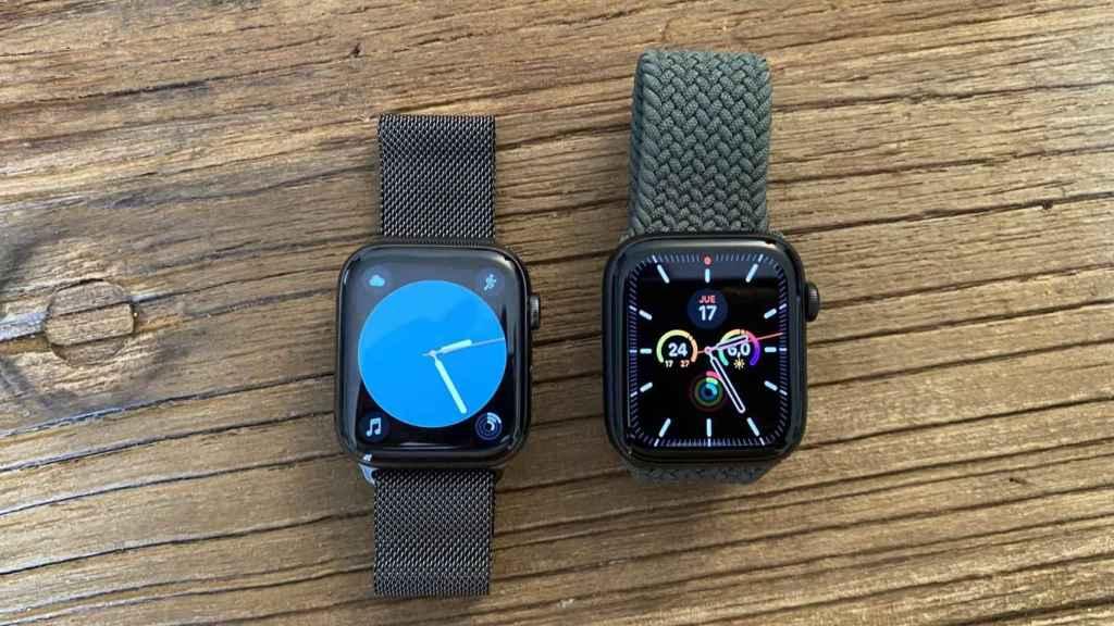 Apple Watch series 6 (izq) y SE (der.)