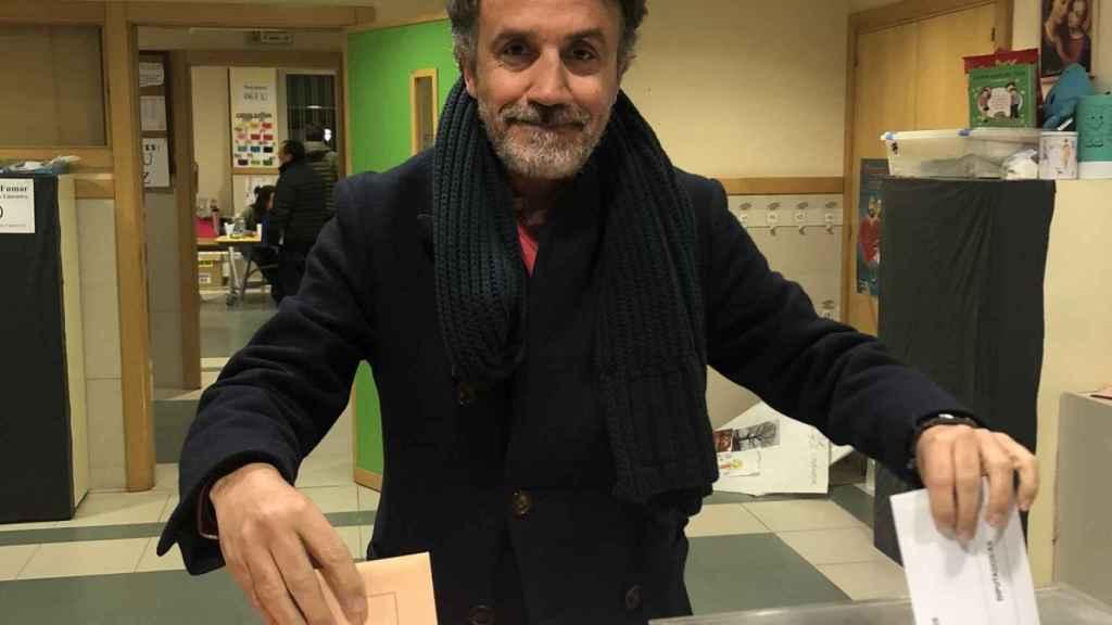 Carlos Fernández en las oficinas de Iberdrola.
