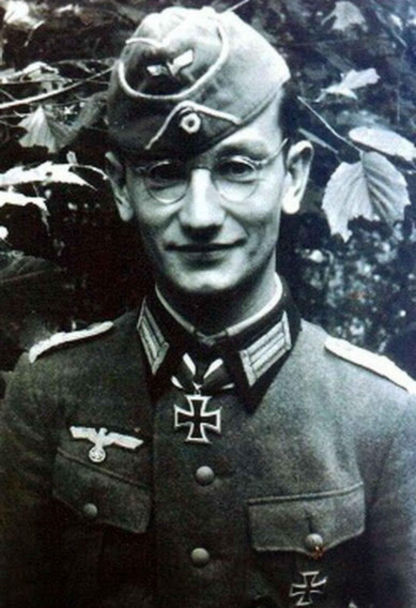Fotografía de Ekkehard Gühr en su juventud.