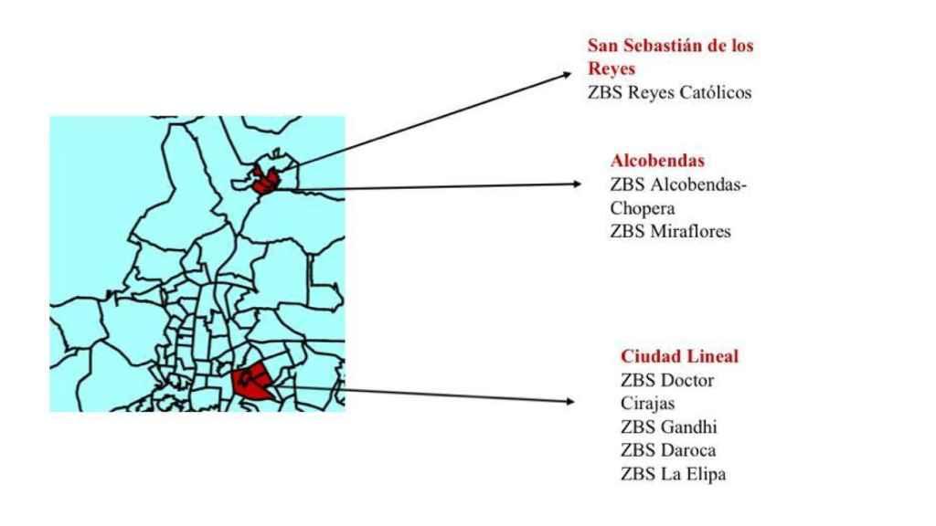Zona sanitarias de la Comunidad confinadas desde el lunes