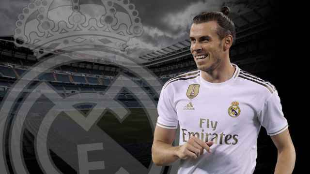 Gareth Bale y el escudo del Real Madrd