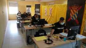 Rastreadores de la UME trabajan desde la base de Morón de la Frontera (Sevilla).