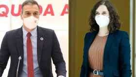 Pedro Sánchez e Isabel Díaz Ayuso.
