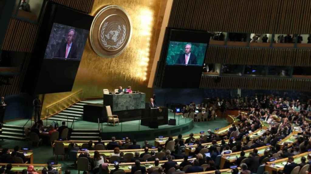 La Asamblea de la ONU en una imagen de archivo.