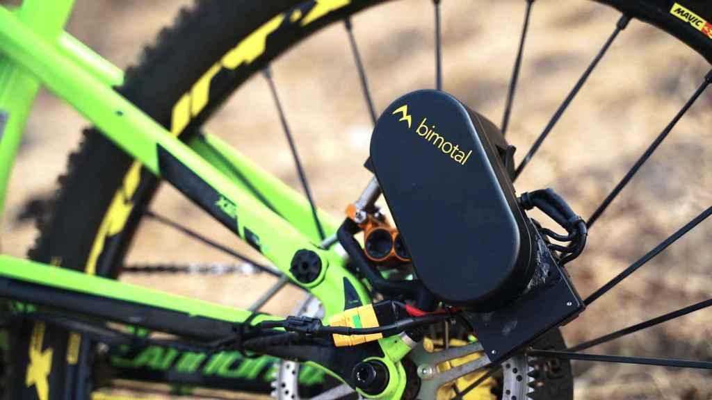 Dispositivo para electrificar bicis de montaña.