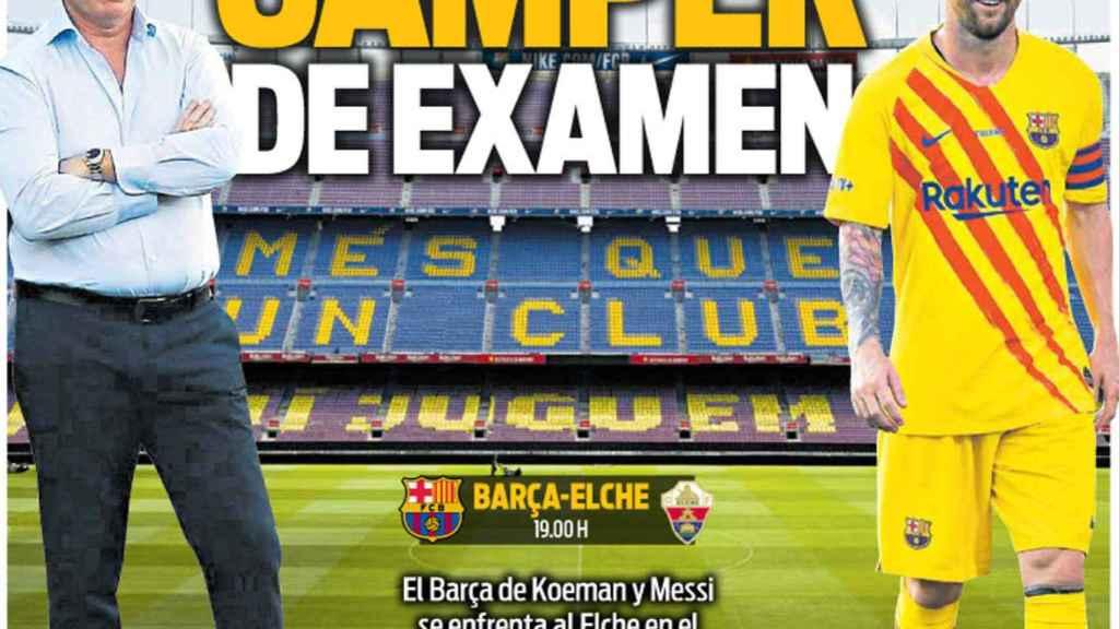 Portada diario Sport 19-09-2020