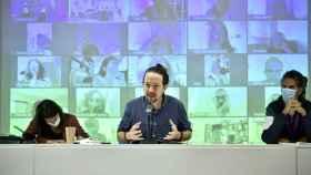 Pablo Iglesias durante su intervención en el Consejo Ciudadano de Podemos.