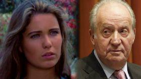 Sandra Mozarowsky y el rey Juan Carlos en un montaje de Jaleos.