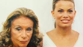 Nena Perojo junto a su nieta Carla en la boda de ésta con Jorge Benguría.