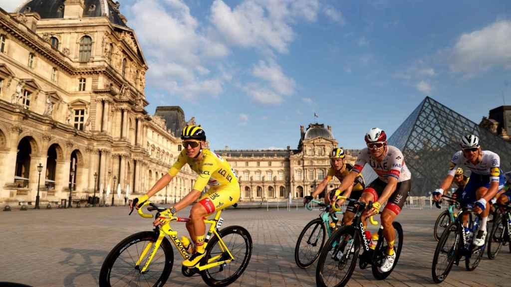 Pogacar en la etapa 21 del Tour de Francia