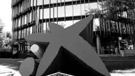 Distintivo y logo de las oficinas de Caixabank en Madrid (España) a 4 de septiembre de 2020.