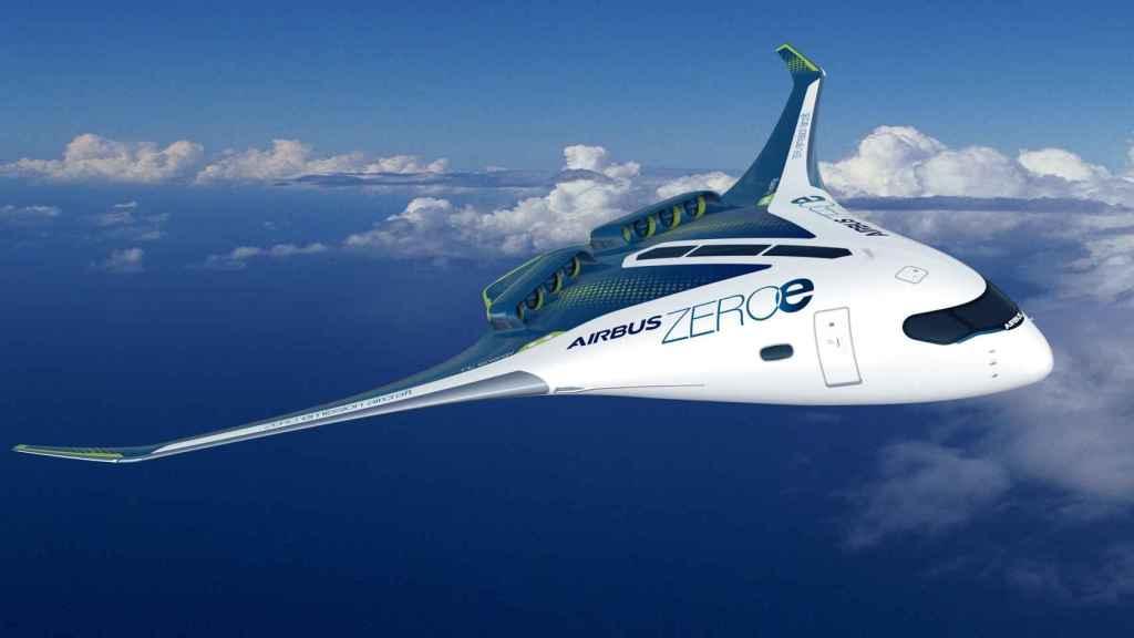 El diseño de Airbus con cuerpo de ala mixta.