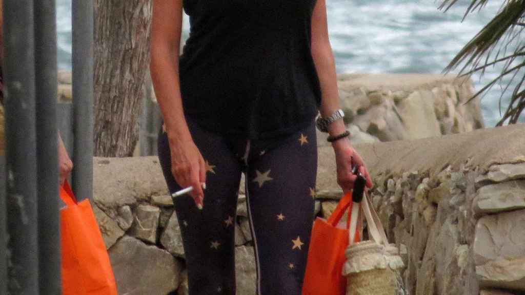 La actriz y presentadora durante sus vacaciones en Mallorca.
