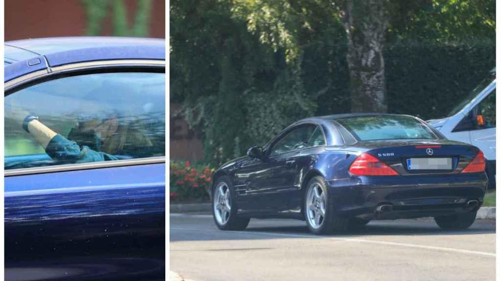 Ana Obregón llegando en su coche este pasado lunes al club de golf de La Moraleja.