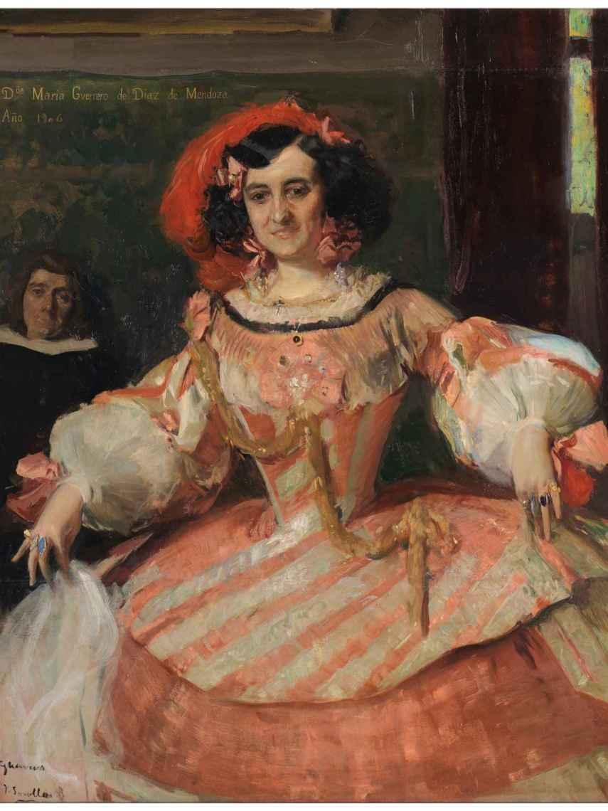 'La actriz Doña María Guerrero como la Dama Boba'.