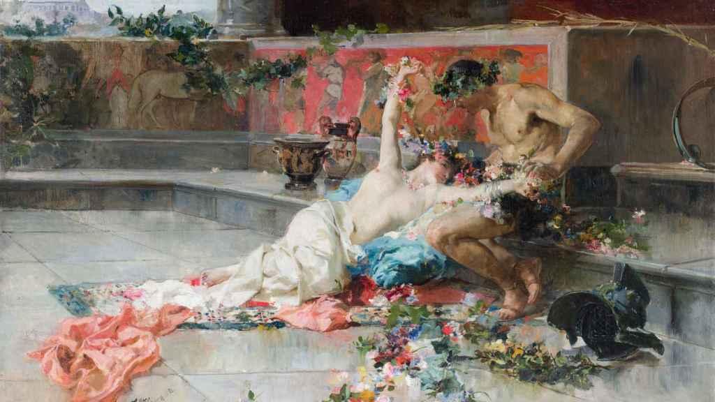 'Mesalina en brazos de un gladiador'.