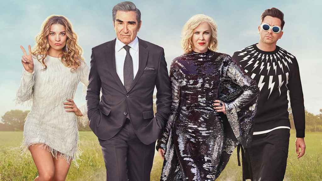El reparto de 'Schitt's Creek'.
