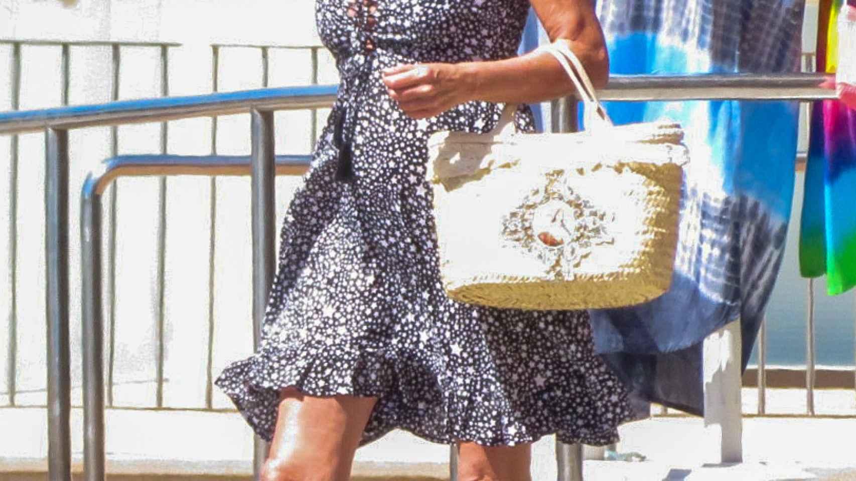 Ana García Obregón durante sus vacaciones en Palma de Mallorca.
