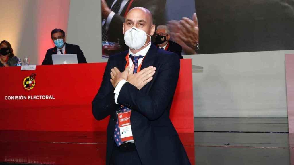 Rubiales, agradecido por ser elegido presidente de la RFEF de nuevo
