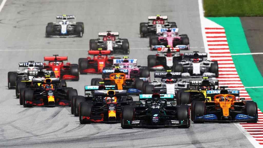 Carrera de Fórmula 1 tras la salida