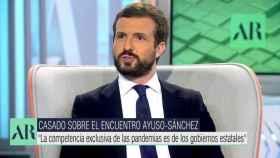 Pablo Casado, presidente del PP, en Telecinco este lunes.