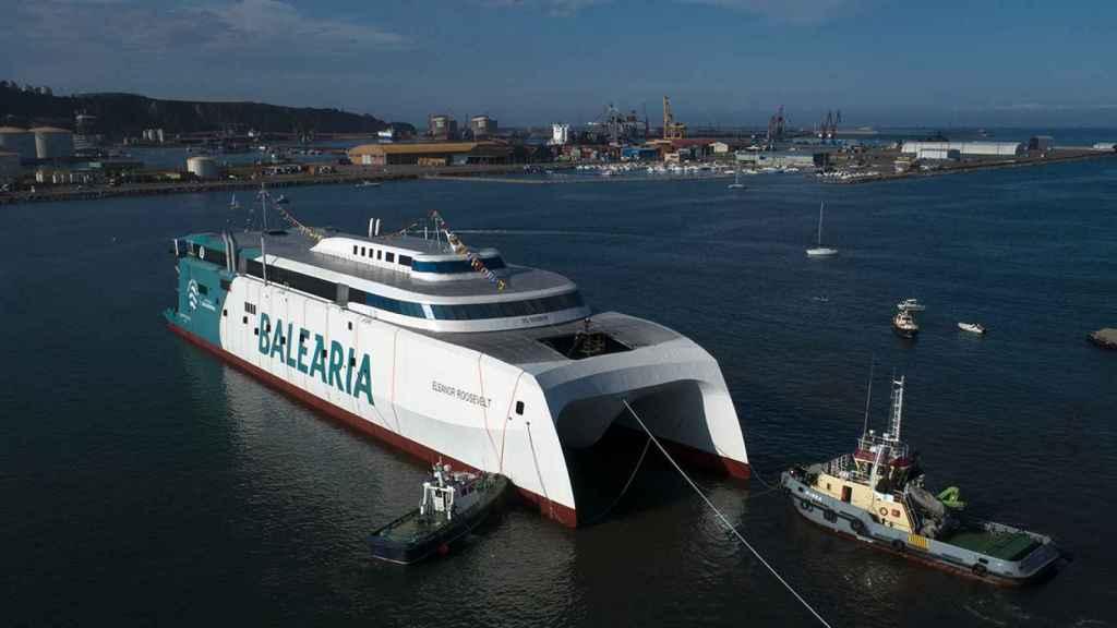 El 'fast ferry' Eleanor Roosevelt de Baleària.