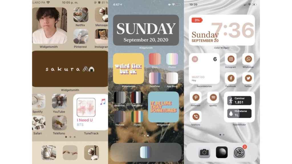 Ejemplos de iPhone personalizados