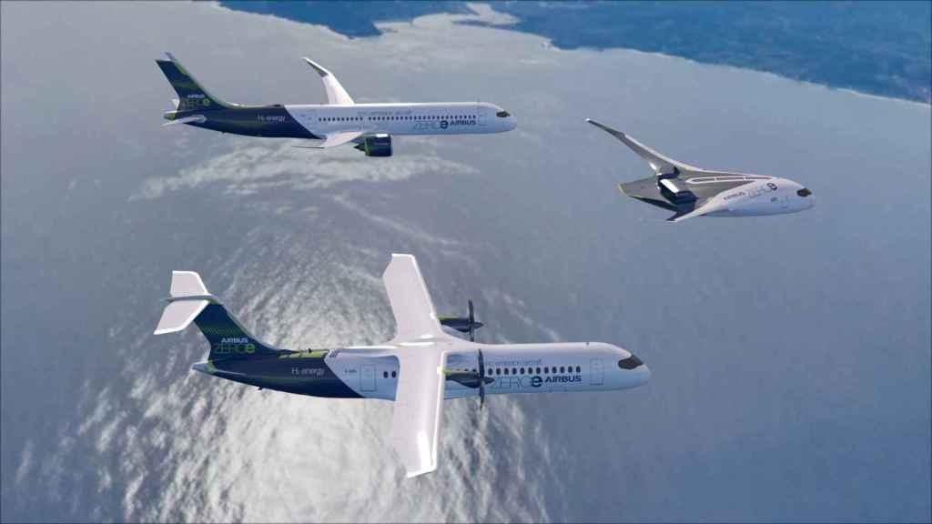 Nuevos aviones de emisiones cero de Airbus