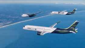 Los tres nuevos aviones de hidrógeno anunciados por Airbus