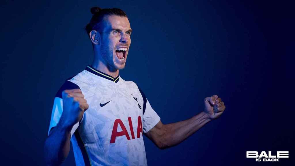 Bale, en su presentación con el Tottenham