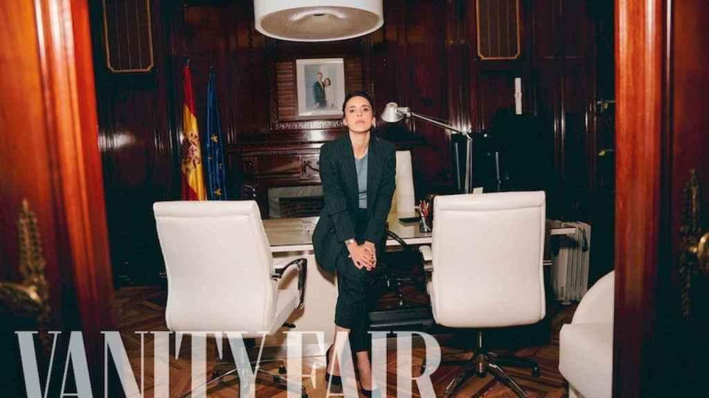 Irene Montero posando para la revista 'Vanity Fair'.