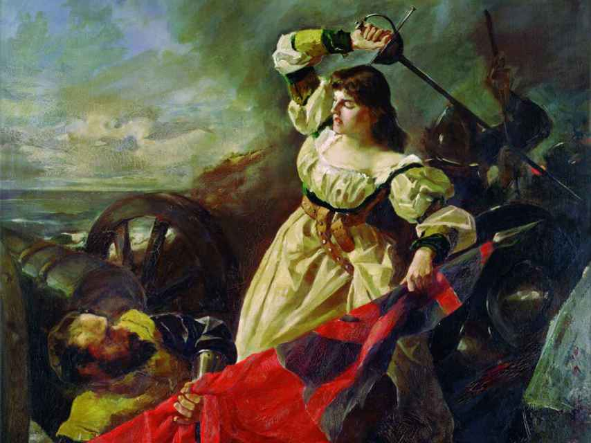 María Pita, pintada por Arturo Fernández Cersa.