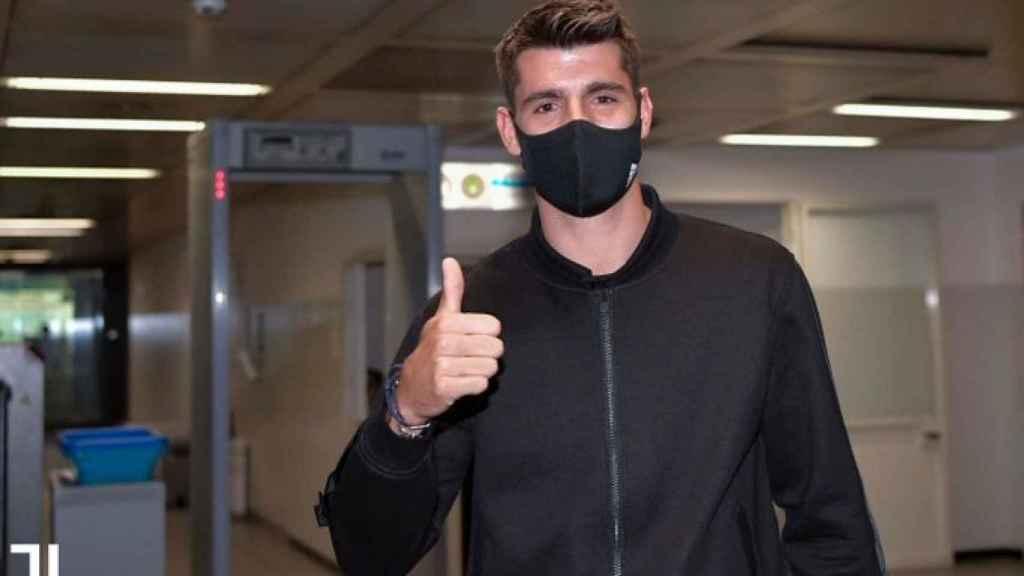 Álvaro Morata llega a Turín para fichar por la Juventus