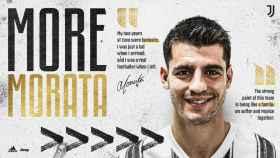 Álvaro Morata, nuevo jugador de la Juventus de Turín