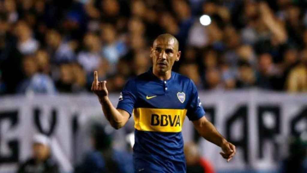Cata Díaz, en un partido de Boca Juniors