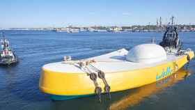 Parece un bote, pero su misión es capturar la energía de las olas