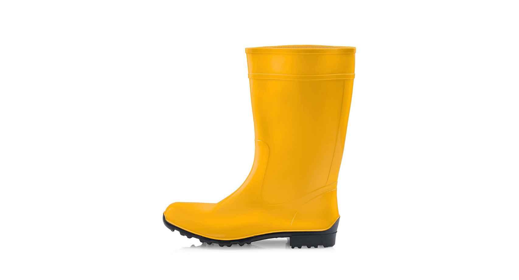 Botas de agua de color amarillo