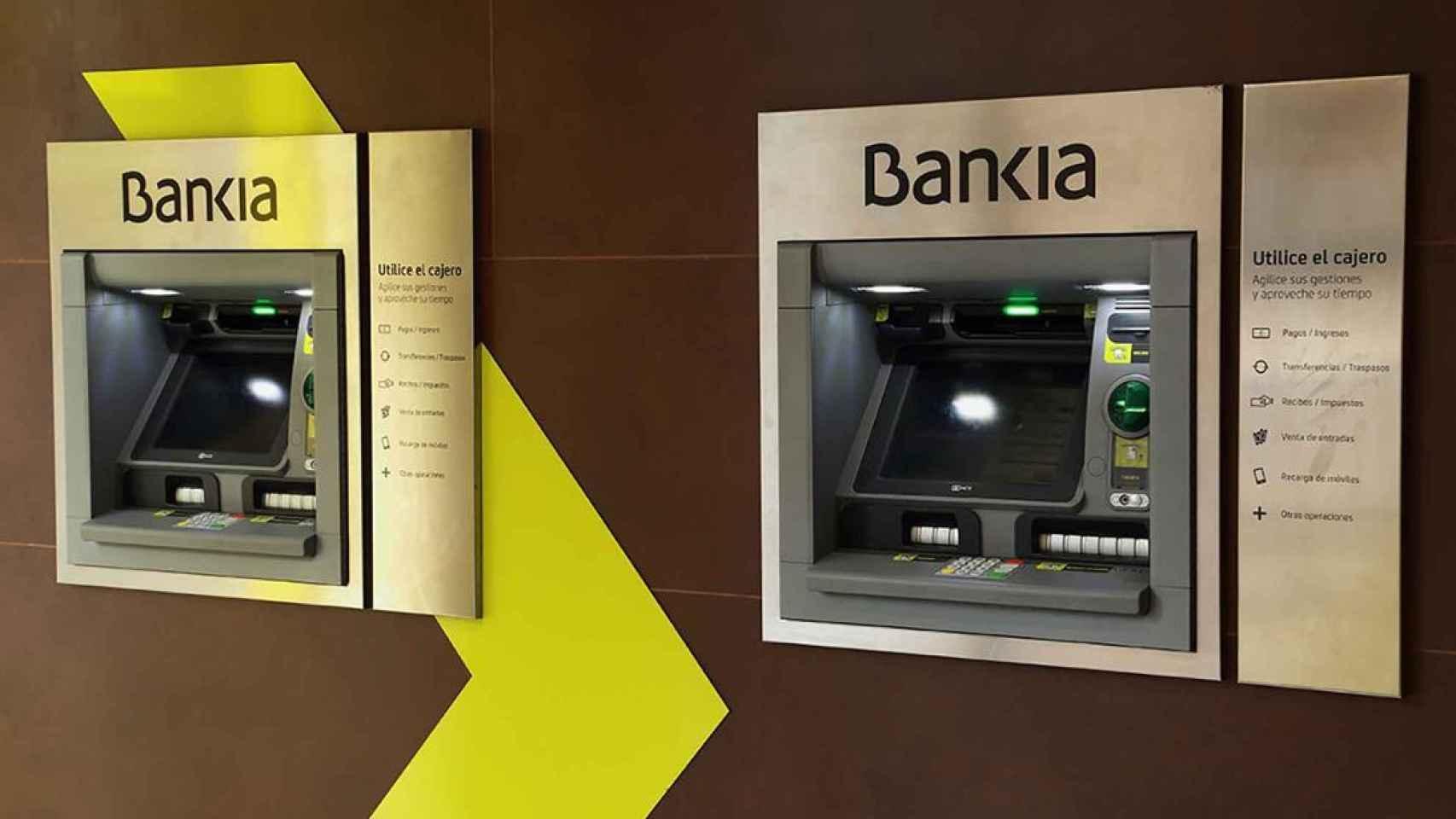Imagen de cajeros de Bankia.