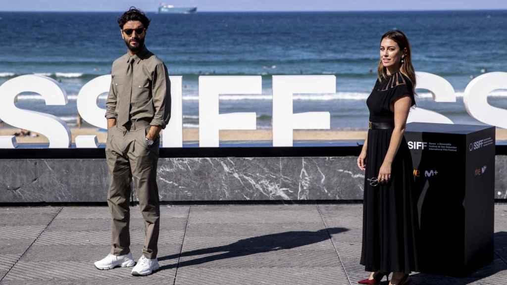 Javier Rey y Blanca Suárez, en el Festival de Cine de San Sebastián.
