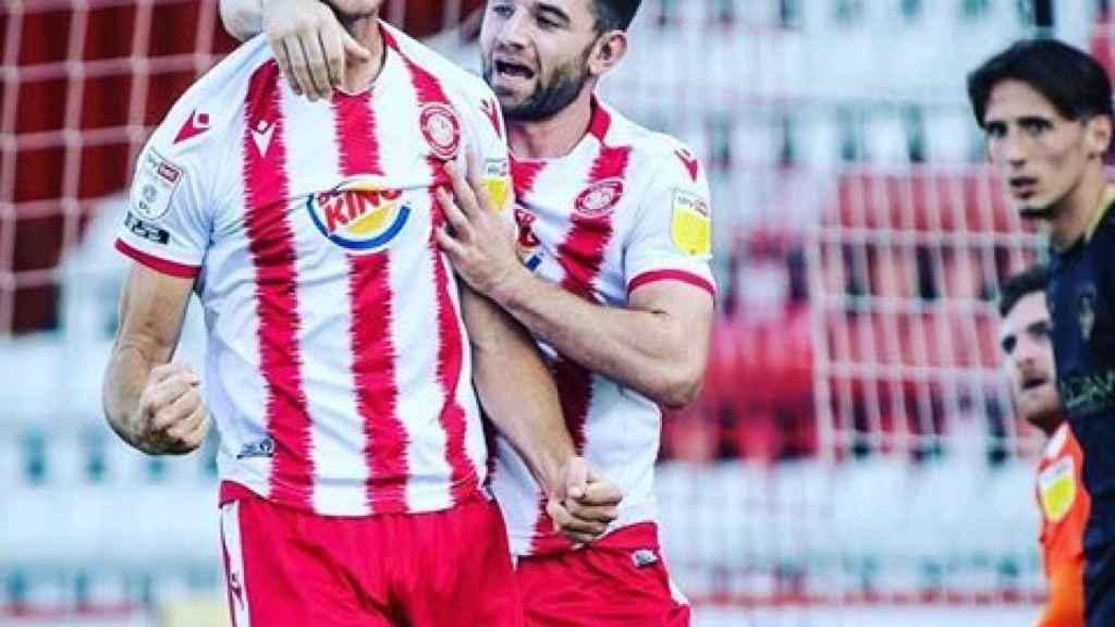Los jugadores del Stevenage FC celebrando un gol