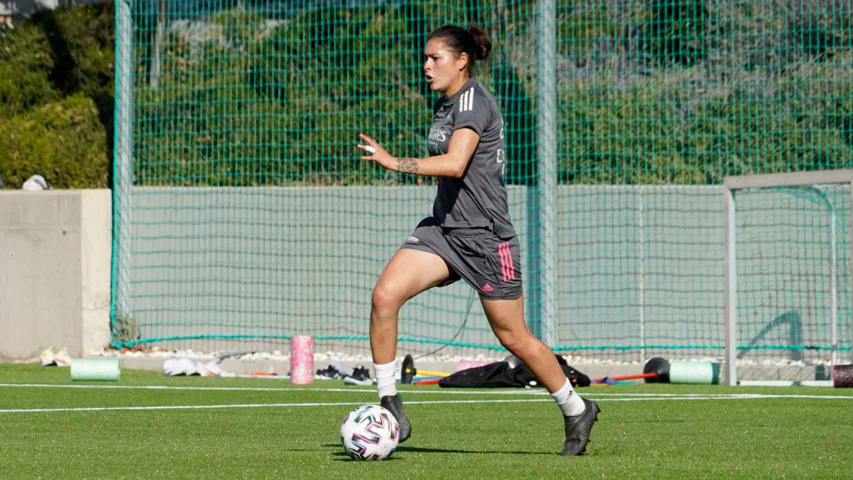 Jessica Martínez en un entrenamiento